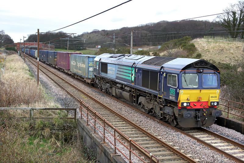 66430 Woodacre 18/2/2014<br /> 4M44 0847 Mossend Yard-Daventry
