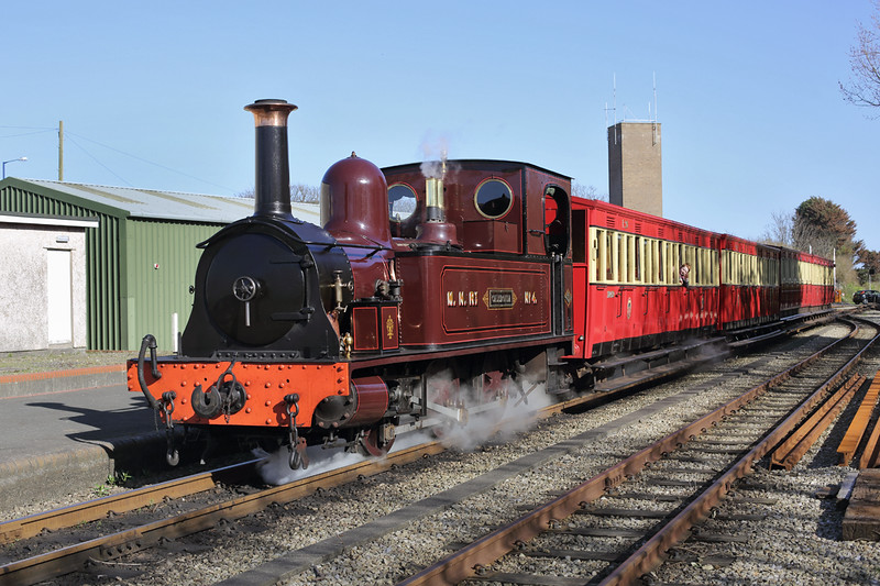 15 'Caledonia' (Manx Northern Railway No.4), Port Erin 18/4/2014