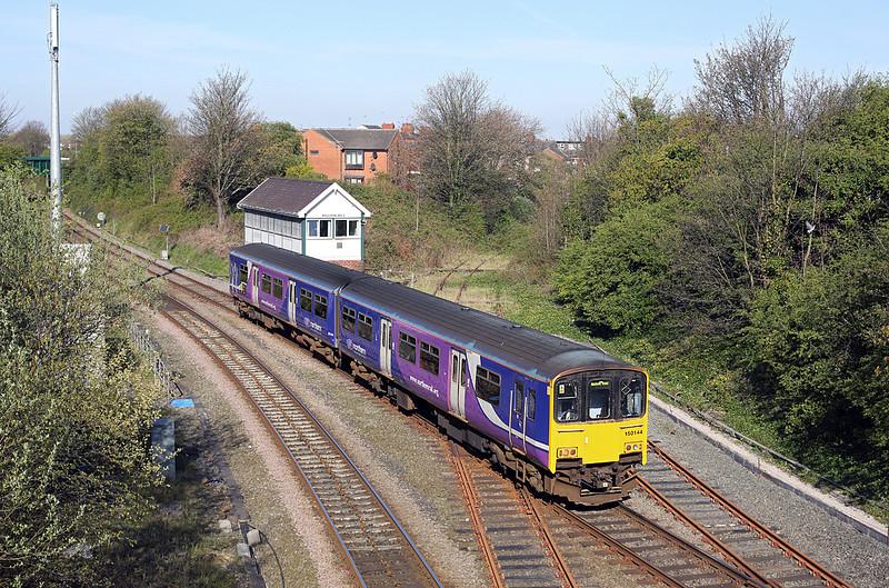 150144 Poulton-le-Fylde 19/4/2014<br /> 2J46 0920 Blackpool North-Manchester Victoria