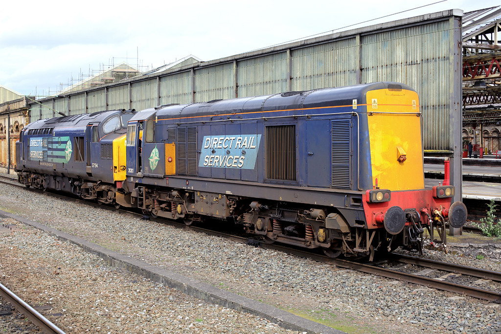 20301 and 37194, Crewe 20/3/2014