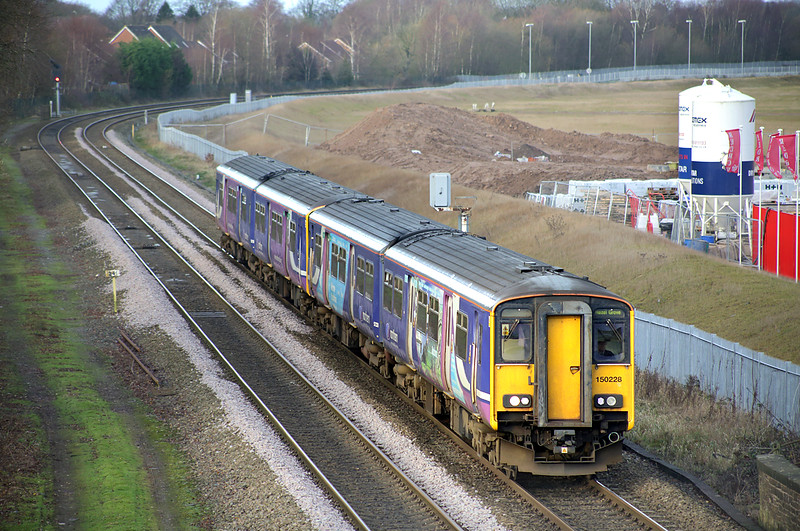 150228 and 150150, Buckshaw Parkway 20/12/2014<br /> 2H00 1023 Preston-Hazel Grove