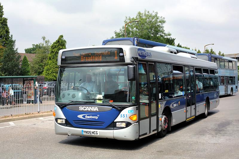 551 YN05HCG, Crawley 21/7/2014