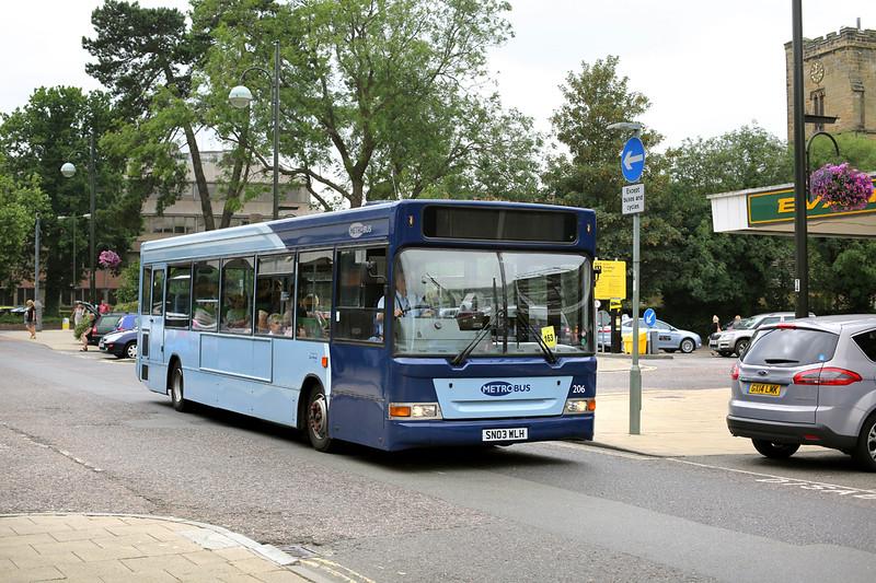 206 SN03WLH, Crawley 21/7/2014