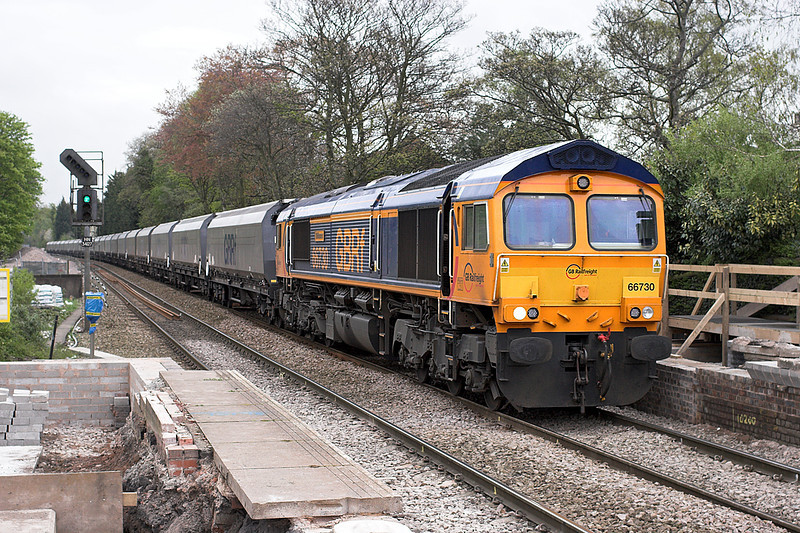66730 Huyton 22/4/2014<br /> 4F68 0900 Ironbridge PS-Liverpool Bulk Terminal