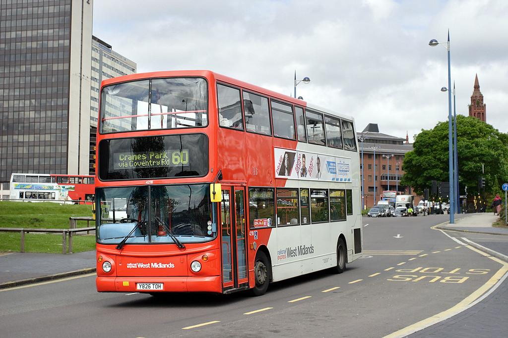 4218 Y826TOH, Birmingham 23/5/2014