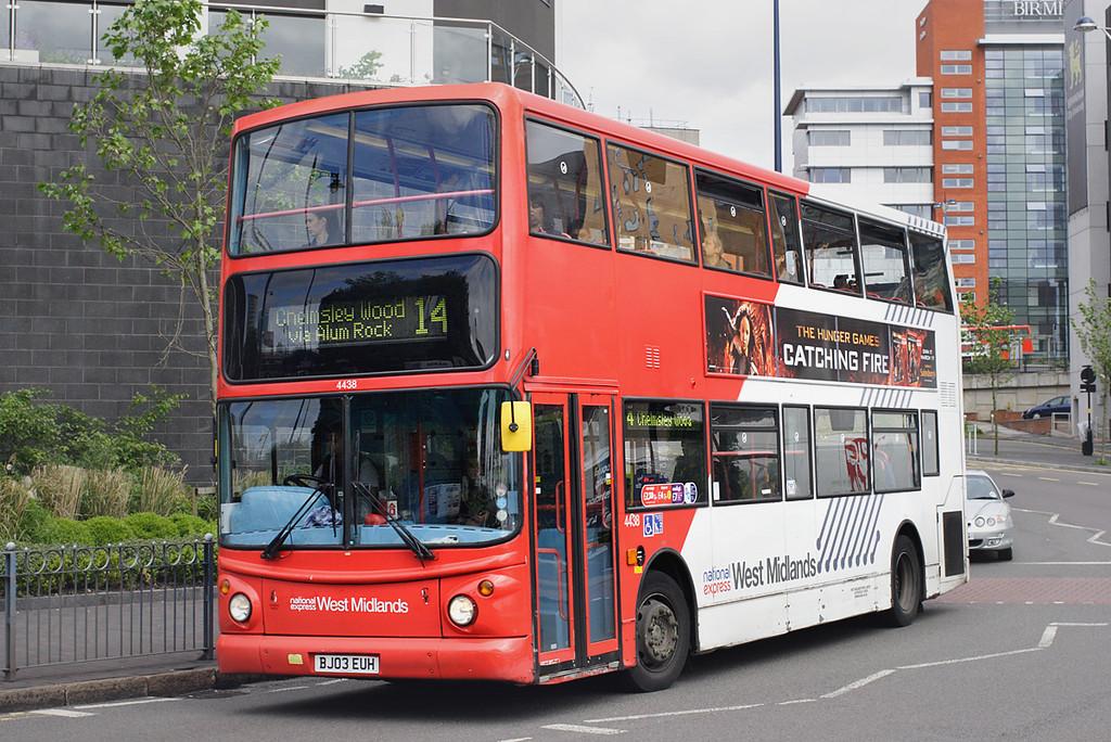 4438 BJ03EUH, Birmingham 23/5/2014