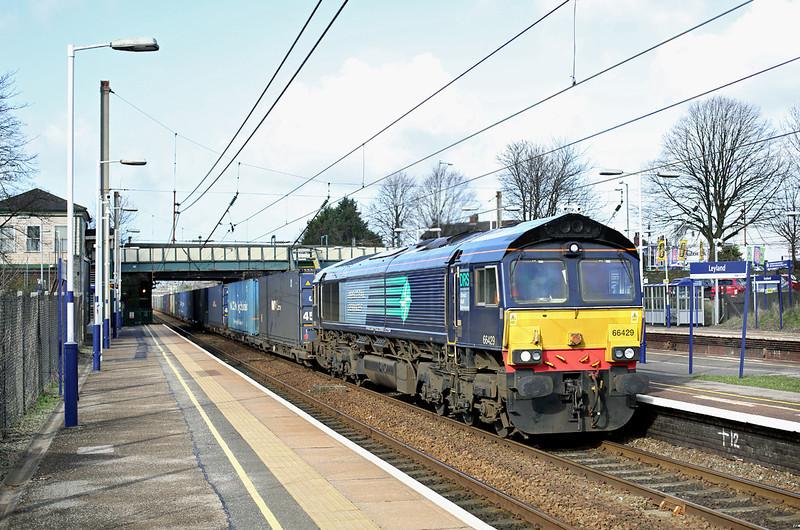 66429 Leyland 27/2/2014<br /> 4M44 0847 Mossend Yard-Daventry