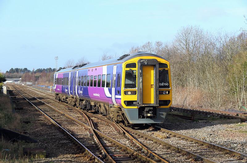 158790 Bamber Bridge 27/2/2014<br /> 1B25 1029 Blackpool North-Burnley Manchester Road