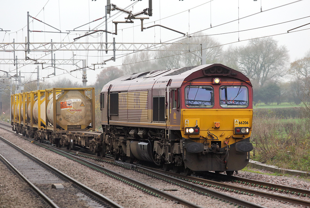 66206 Acton Bridge 28/11/2014<br /> 6F62 1112 Runcorn Folly Lane-Warrington Arpley