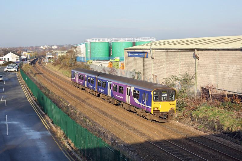 150143 Chorley 29/11/2014<br /> 2E82 1121 Blackpool North-Manchester Victoria