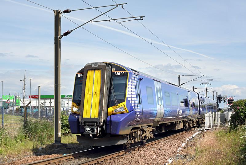 380021 Ardrossan Harbour 30/6/2014<br /> 1F67 1418 Glasgow Central-Ardrossan Harbour