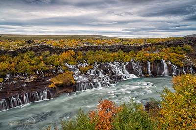 Hraunfossar Falls, Snæfellsnes Penninsula