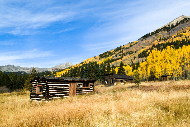 Cabin and Schoolhouse in Winfield Colorado
