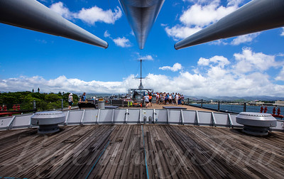 USS Missouri Bow