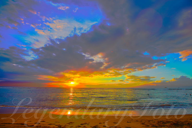 Picture of the Sunset over Baby Beach in Maui