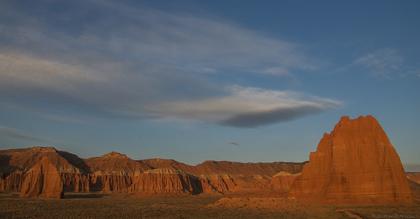 sunrise in lower Cathedral Valley