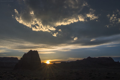 sunset in lower Cathedral Valley