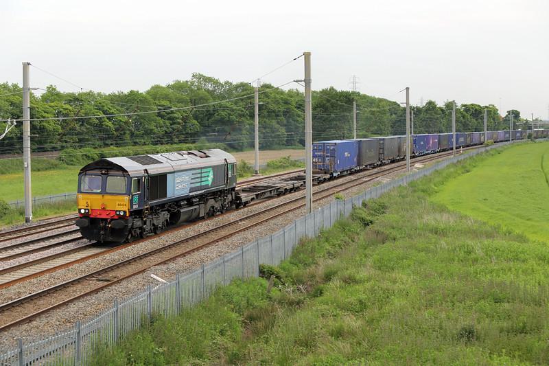 66424 Winwick Junction 12/6/2015<br /> 4S44 1213 Daventry-Coatbridge
