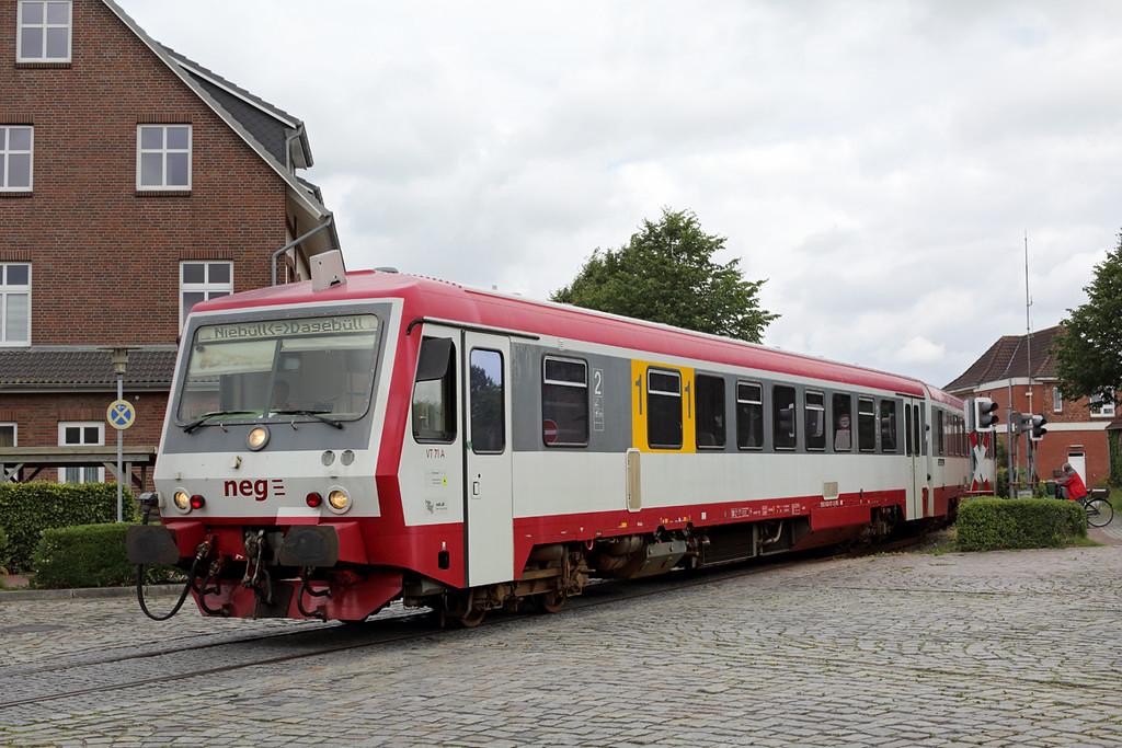 VT71 Niebüll 13/7/2015<br /> NEG15 1205 Niebüll-Dagebüll Mole