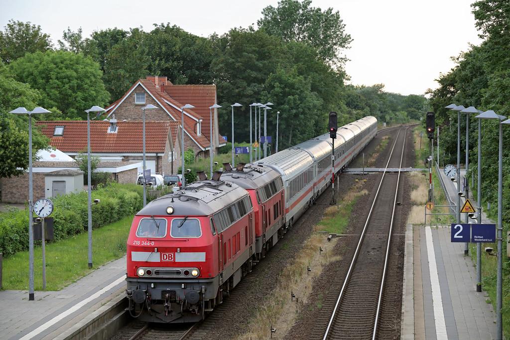 218344 and 218319, Morsum 13/7/2015<br /> NOB2399 1922 Westerland-Niebüll