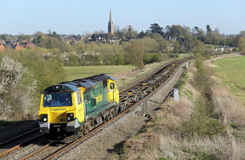 70015 Kings Sutton 14/4/2015<br /> 4M62 1429 Southampton MT-Garston FLT