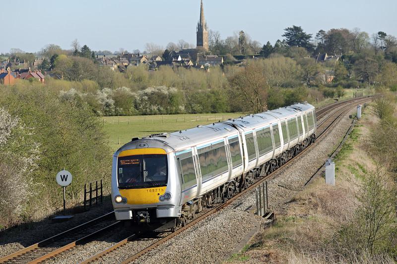 168215 Kings Sutton 14/4/2015<br /> 1G50 1545 London Marylebone-Birmingham Snow Hill