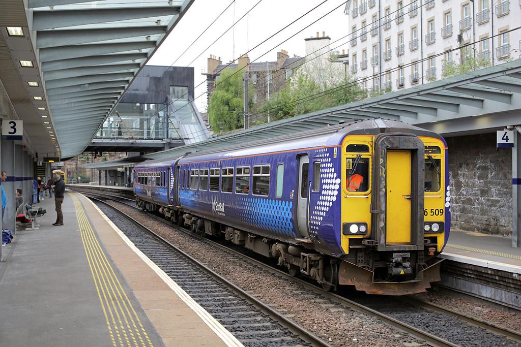 156509 Haymarket 14/5/2015<br /> 2Y49 1027 Edinburgh-Glasgow Central