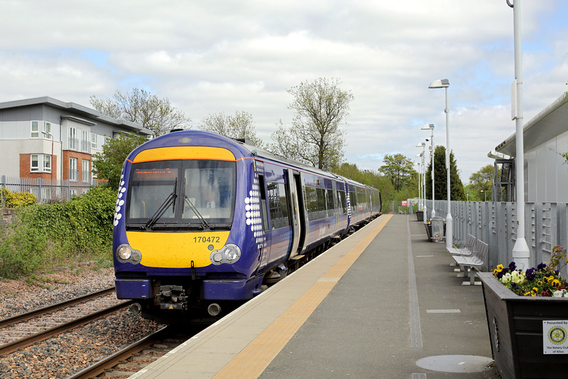 170472 Alloa 14/5/2015<br /> 2N52 1436 Alloa-Glasgow Queen Street