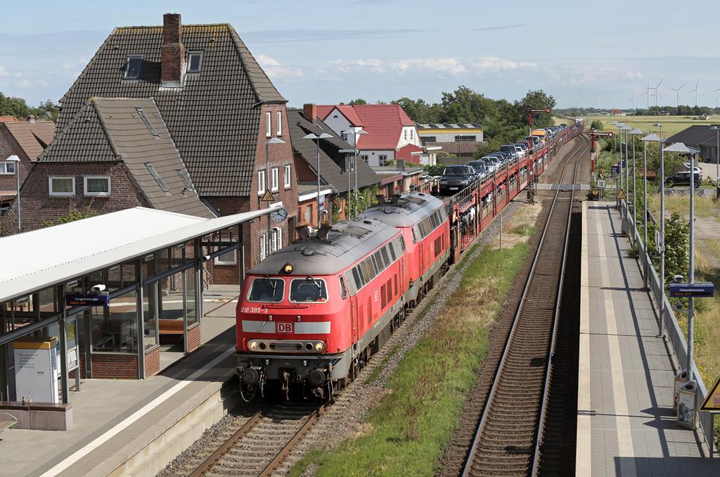 218385 and 218322, Klanxbüll 14/7/2015<br /> As1442 1535 Niebüll-Westerland