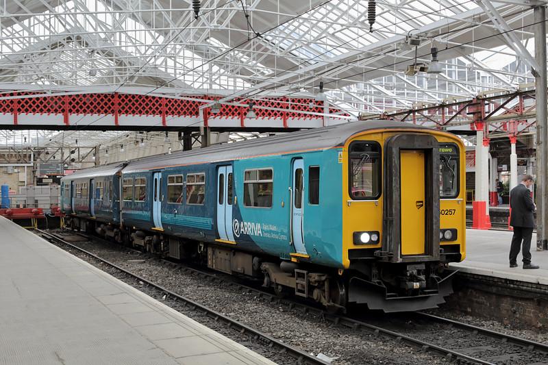 150257 Crewe 16/9/2015<br /> 2J54 1120 Crewe-Shrewsbury