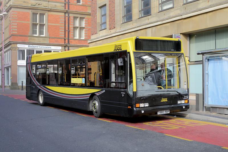 219 T880RBR, Blackpool 19/3/2015