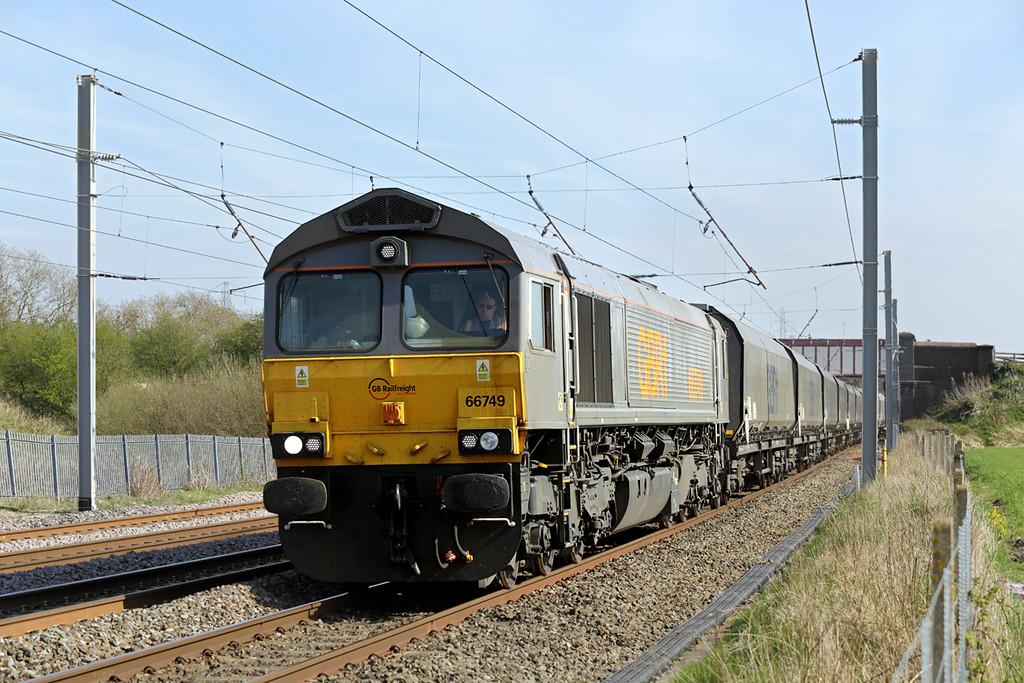 66749 Winwick Junction 20/4/2015<br /> 4F61 1300 Ironbridge PS-Tuebrook Sidings
