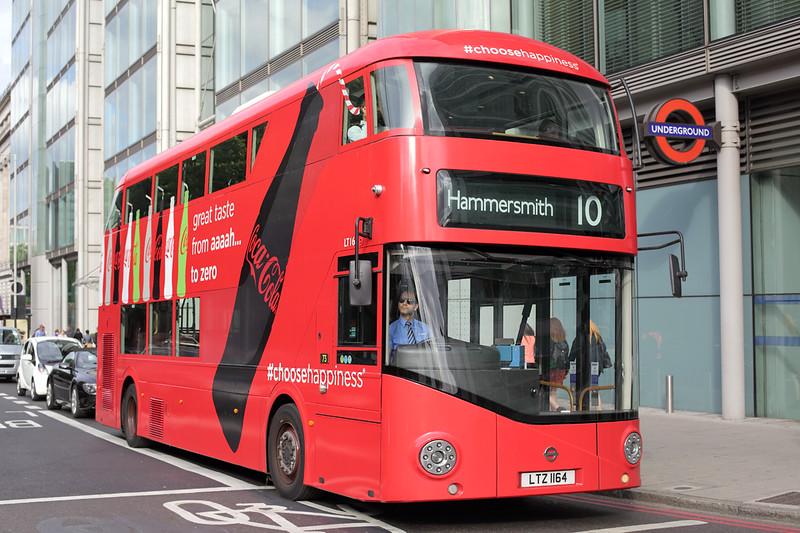 LT164 LTZ1164, Euston Square 21/6/2015