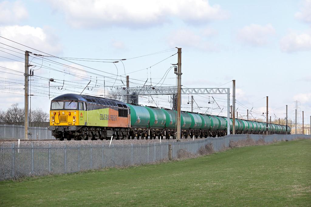 56113 Farington 25/3/2015<br /> 6M65 0600 Grangemouth-Long Marston