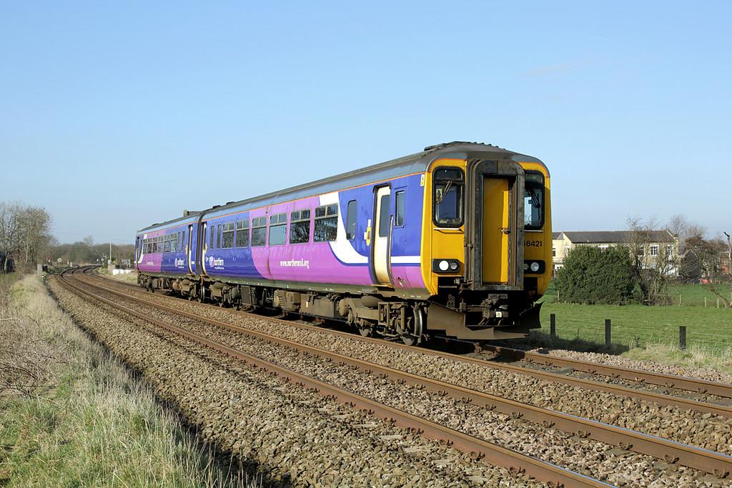 156421 Gregson Lane 25/3/2015<br /> 2N14 0820 Blackpool South-Colne