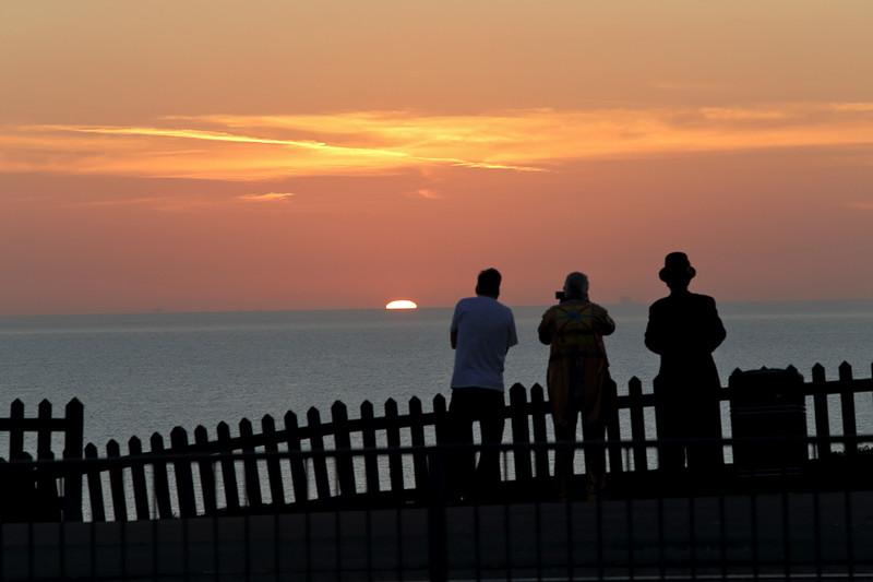 Sunset, Bispham Promenade, Blackpool 26/9/2015