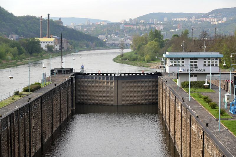 Střekov Lock, Ústí nad Lábem, Czech Republic 29/4/2015