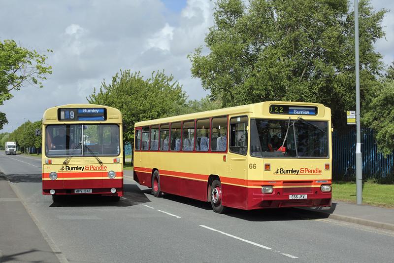 66 E66JFV and 34 MFV34T, Kirkby 31/5/2015