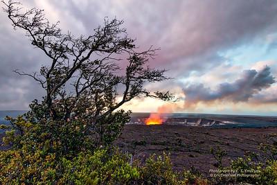 Halema'Uma'mu Crater at Daybreak