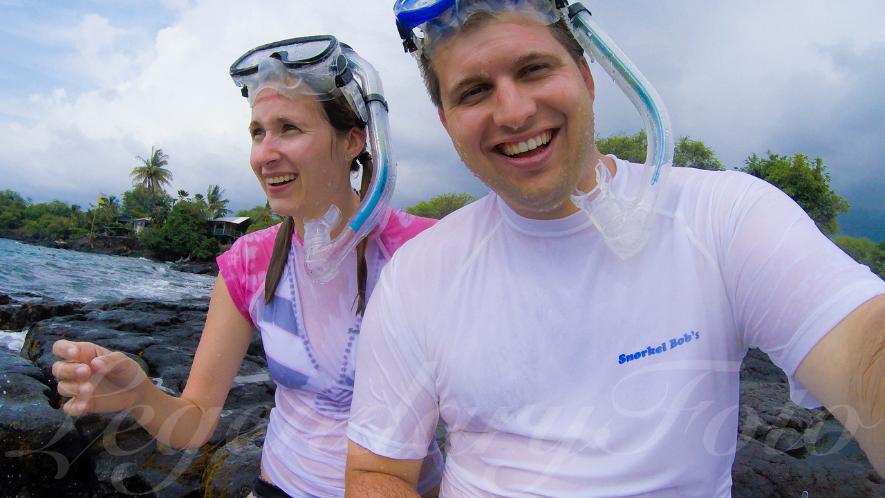 David and Ashlee Snorkeling