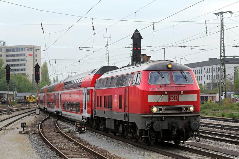 218401 München Ost 2/5/2016<br /> RB27065 1748 München Hbf-Mühldorf