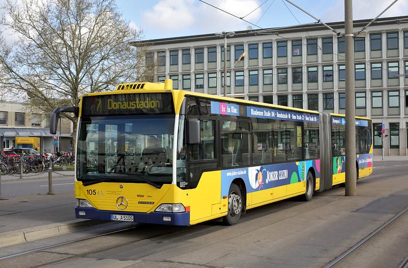 105 UL-A 5105, Hauptbahnhof 4/5/2016