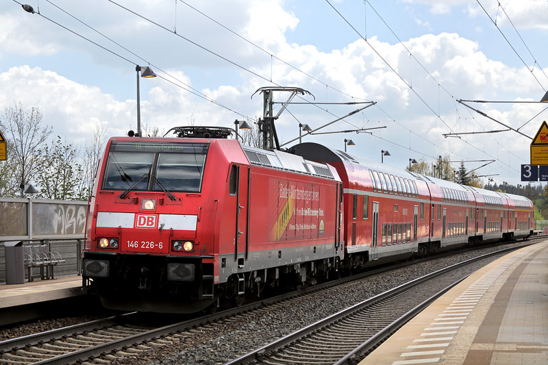 146226 Westerstetten 4/5/2016<br /> RE19224 1309 Ulm Hbf-Stuttgart Hbf