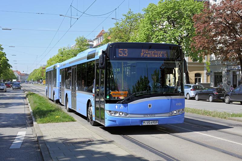 4909 M-VG 4909, Leonrodplatz 6/5/2016