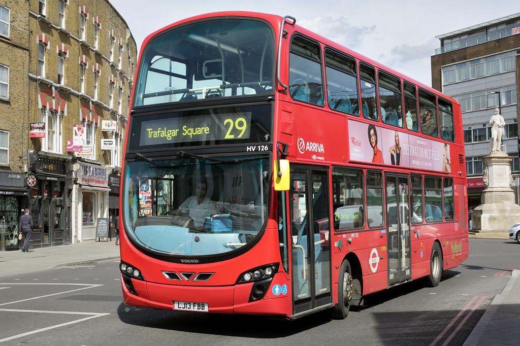 HV126 LJ13FBB, Mornington Crescent 12/4/2016