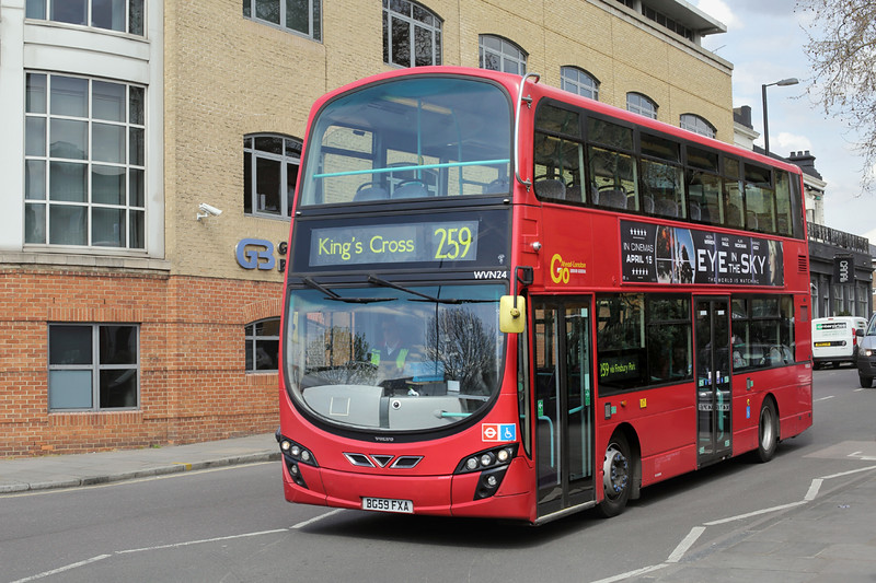 WVN24 BG59FXA, Kings Cross 13/4/2016