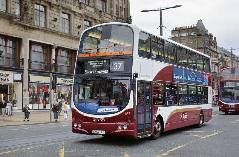 853 SN57DFE, Edinburgh 13/9/2016