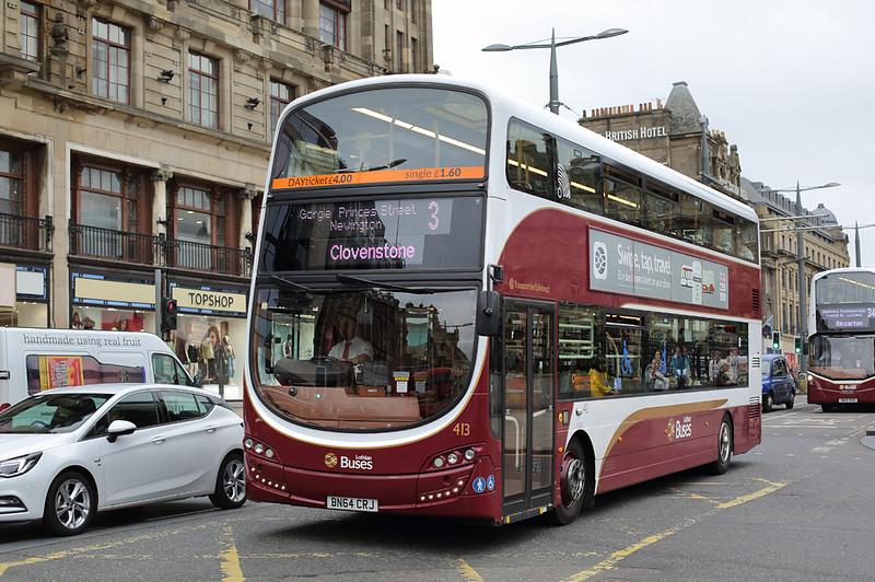 413 BN64CRJ, Edinburgh 13/9/2016