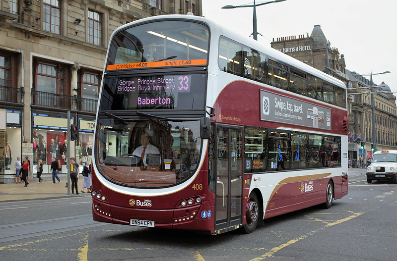 408 BN64CPV, Edinburgh 13/9/2016