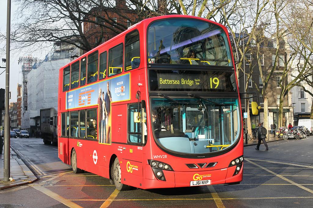 WHV28 LJ61NVP, Bloomsbury 13/12/2016